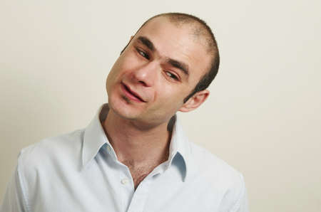 hombre caucasico: cauc�sico Retrato de hombre Foto de archivo