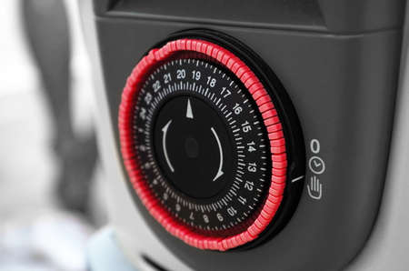 heater operational clock closeup