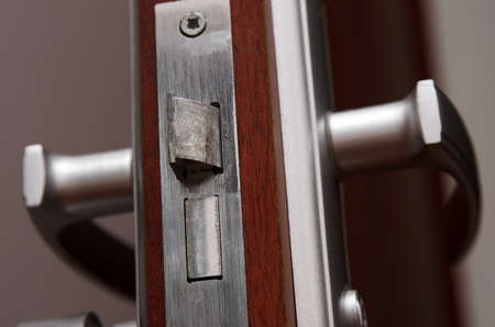 lock: home door lock closeup