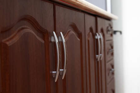 kitchen cabinets: kitchen cabinets closeup at home