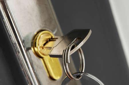 door key macro closeup