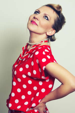 retro woman: retro woman fashion portrait, pin up style