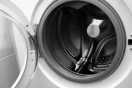 inside washing machine macro shot