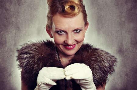 50s women: retro woman fashion portrait