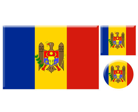 moldova: Moldova icons set on white