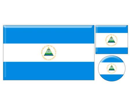 nicaragua: Nicaragua icons set on white