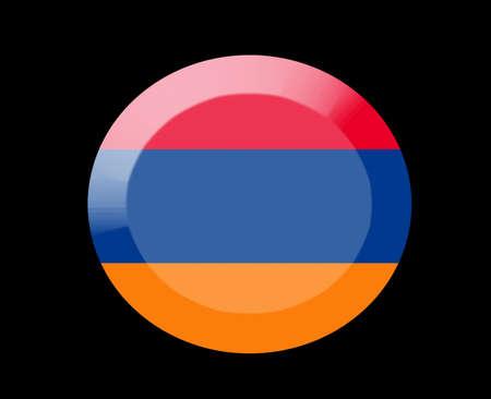 armenia: armenia icons set on black Stock Photo
