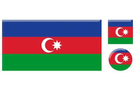 azerbaijan: azerbaijan icons set on white