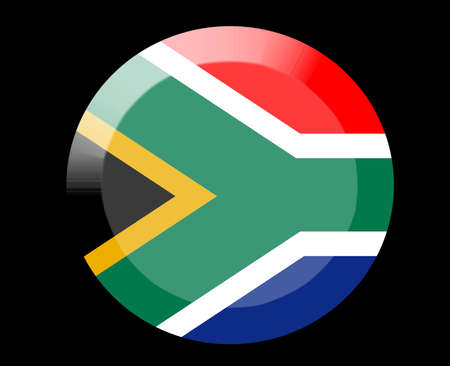 south africa flag: South africa flag icon Stock Photo