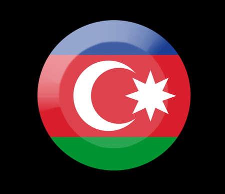 azerbaijan: azerbaijan icons set on black