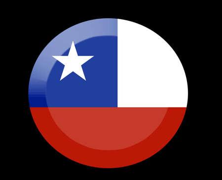 chile: chile icons set on black Stock Photo