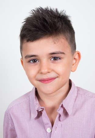 teen boy face: little cute boy portrait closeup