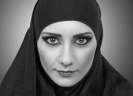 hijab: pretty muslim girl portrait Stock Photo
