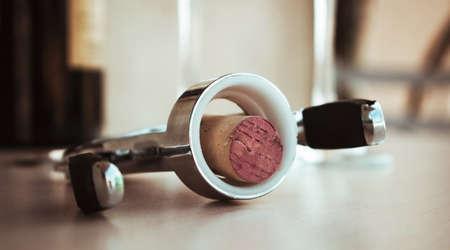 bootle: wine bootle cork opener closeup