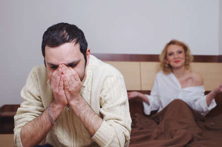problem: couple having problems in the bedroom