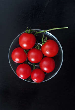 table top: Cherry tomatoes on a table top view