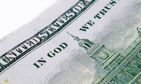 in god we trust: us dollars macro closeup
