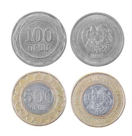 armenian: armenian money dram closeup