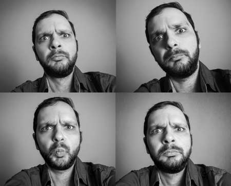 funny bearded man: collection of funny bearded man taking selfie shot