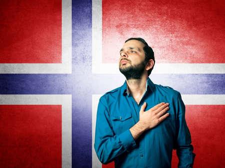 patriot: patriot man standing closeup portrait