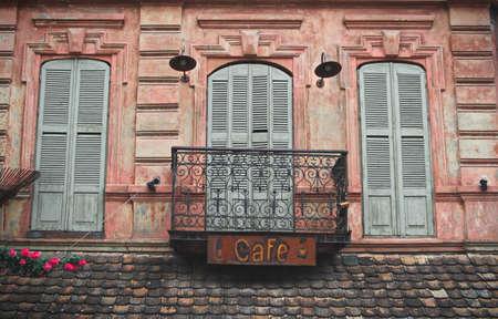 tbilisi: Tbilisi old balconies, Tbilisi,Georgia Stock Photo