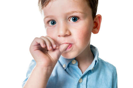 面白い小さな男の子の肖像画