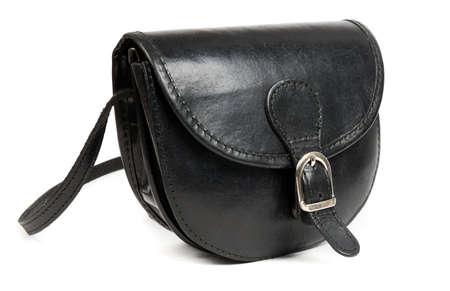 clutch bag: Fashion leather bag closeup Stock Photo