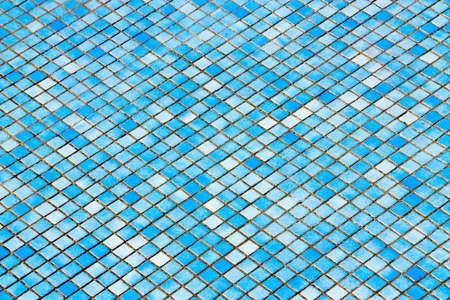 bathroom interior: Abstract blue tiles background