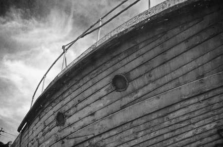 old abandoned ship vintage textured picture