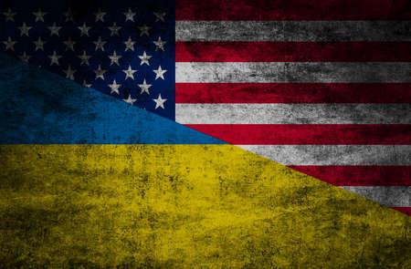 Relaciones con los países. Banderas sobre fondo con textura Foto de archivo - 88639860