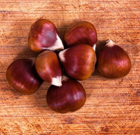 Chestnuts on the table, Top view