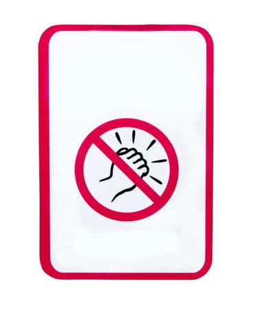 No door knockers sign on white Stock Photo