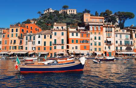 Schöne Aussicht in Portofino. Italien Standard-Bild - 93437277