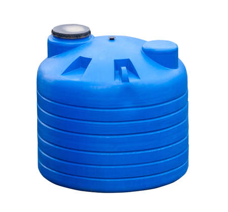 Big industrial water container isolated