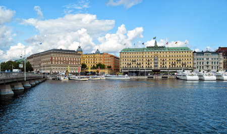 View on Stockholm. Sweden capital 스톡 콘텐츠