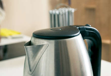Kettle closeup in the kitchen