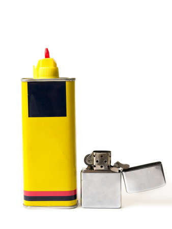Old lighter with the fuel refill