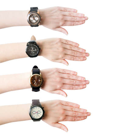 Female hand with the wrist watch, collection Stock Photo