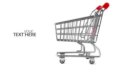 Chariot d'achat avec l'espace de copie Banque d'images