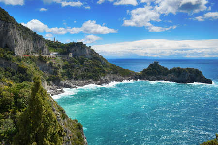 Travel in Italy. Amalfi coast with the sea Banque d'images