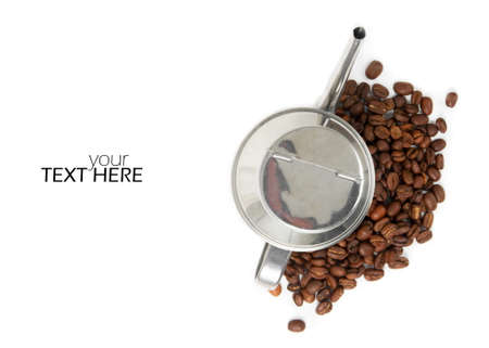 Coffee beans with the copy space