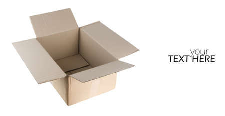 Carton box with the copy space