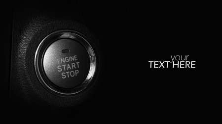 Engine button with copy space