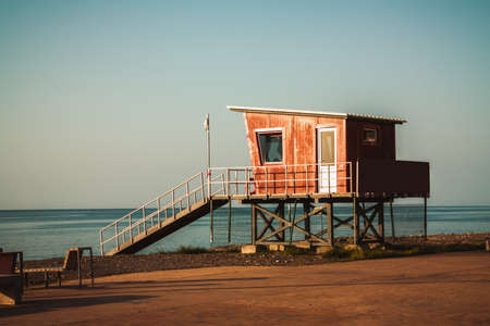 Life saving on the Batumi black sea coast