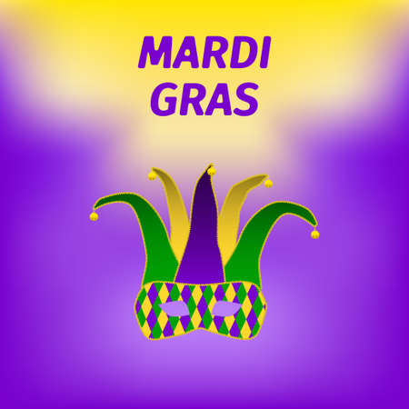 Mardi gras brochure design Illustration