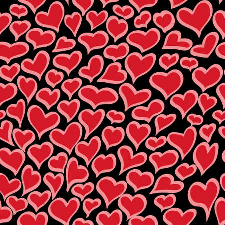 Heart seamless pattern. Vector Illustration.