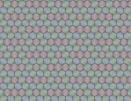 Abstract seamless surround pattern. Optical effects.