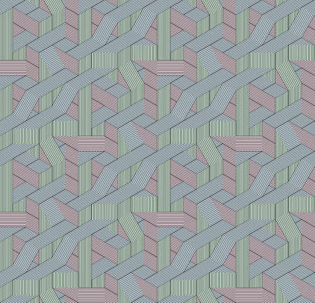 Abstract seamless surround pattern of cubes. Ilustrace