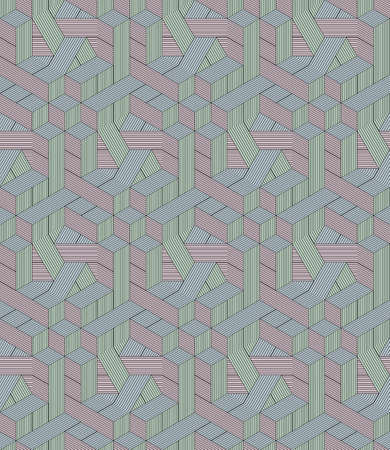 Abstract seamless surround pattern of cubes. Illustration