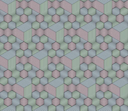 Abstract seamless surround pattern of cubes and threads. Ilustrace